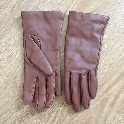 soft Brown Leather women gloves with cashmere lining