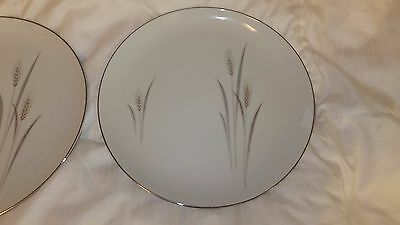 """Fine China Japan  Total of 2 Platinum Wheat 10 1/4"""" Dinner Plates NEED EXTRA!!"""