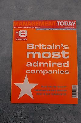 Management Today Magazine: December 2000, Britains Most Admired Companies