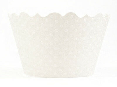 Bella Cupcake Couture Cupcake Wrappers - Swiss Dot - White