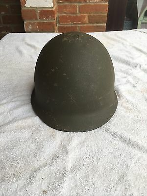 M1 Style US Helmet Metal - Olive green Textured outer