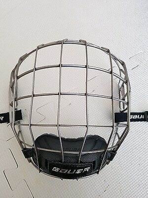 "Bauer Senior 7500 Hockey Helmet Cage Size Large L ""Brand New Chin Cup"""