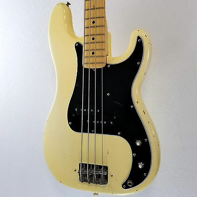 1977 Fender Precision Bass Blonde Vintage Electric P Bass Guitar