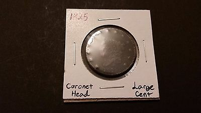 1825 Coronet Head Large Cent! Free Shipping!