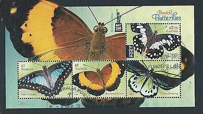 Australia Butterfly Miniature Sheet Overprinted New York Stamp Show Sg Ms 4579