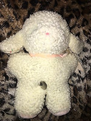 """EDEN TOYS 9"""" Plush Baby Sheep Wind Up Musical Toy MARY HAD A LITTLE LAMB Works!"""