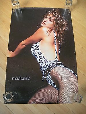 Vintage Madonna Leopard Swimsuit Poster 30 X 20 Out of Print, Rare!!! Great cond