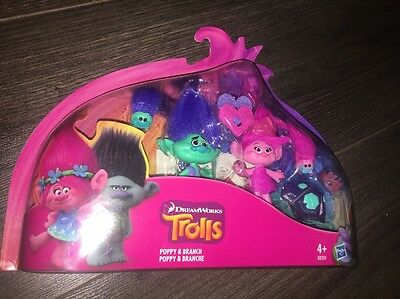 DreamWorks Trolls Poppy and Branch True Colours Set Movie Dolls **New**