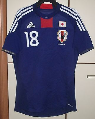 Team Japan 2010-2011 Football Home Adidas Shirt Player Issue Formation Jersey Ho