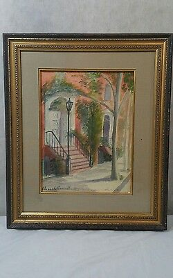 Oil on Board Painting by Hildegarde Hamilton  (1898 - 1970)