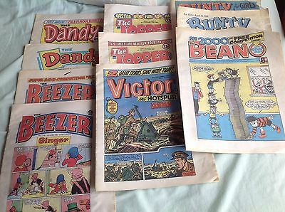 Job Lot Vintage Comics, Dandy, Topper, Beans, Bounty, Beeper, Victor