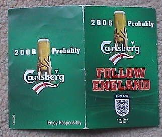2006 Carlsberg Follow England World Cup Germany Pocket Booklet (Italy France)
