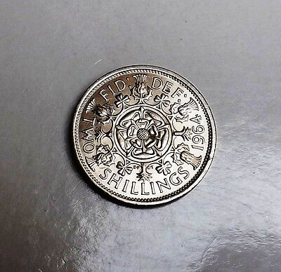 1964 Two-Shilling Unc Very Nice Rare Coin