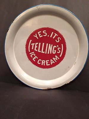 Antique Porcelain Tray From Telling's Ice Cream