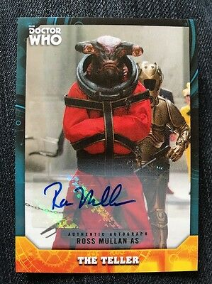 Topps Dr Who Signature Series Ross Mullan As The Teller Autograph Card