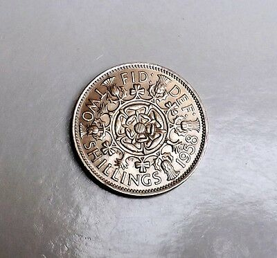 1958 Two-Shilling Very Nice Condition Very Nice Rare Coin     [2]
