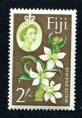 1962 - SG 319  Fiji 2/- White Orchid Stamp - MNH