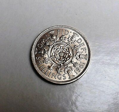 1961 Two-Shilling Unc  Very Nice Rare Coin     [2]