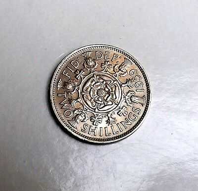 1959 Two-Shilling Very Nice Condition  Very Nice Rare Coin