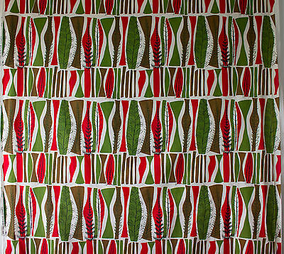 vintage 1950s Heals Coppice Mary White abstract trees print cotton fabric wide