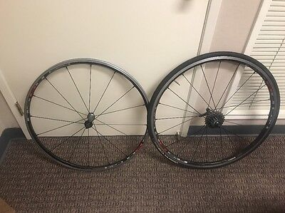 Shimano C24 WH-RS80 Carbon Alloy Road Bike Wheel Set 10 Speed Clincher