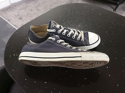 Converse Allstar Blue Lowrise Trainers Size Uk 9.5 Euro 43