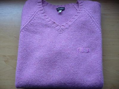 Genuine Armani Jeans Lambswool Jumper Sweater Medium Made in Italy RARE AJ