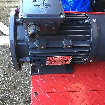 Electric Motor 3 Phase 1400 Rpm  Brand New 1.5 Kw 2hp Foot And Flange Mount B35
