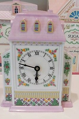 Lenox Victorian Village Porcelain Quartz Shelf Kitchen Clock