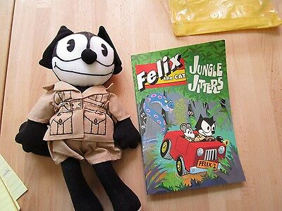 Applause Felix the Cat plush/book Jungle Jitters set in package