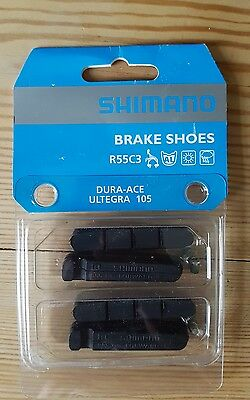 Shimano Brake Pads PAIR Non Carbon wheels 105 Ultegra Dura Ace Front Rear R55C3