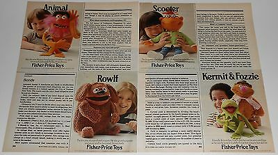 1978 vintage ad - FISHER PRICE TOYS - MUPPETS - KERMIT ROWLF - 2-PAGE PRINT AD