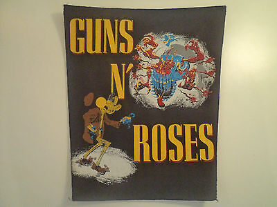 Vintage GUNS N ROSES 80s Unused BACK PATCH heavy metal ratt metallica lp t shirt