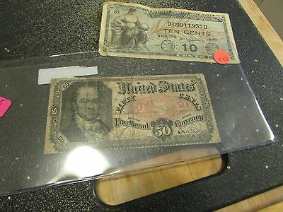 1875 50 Cent Fractional Currency W One Mpc Note