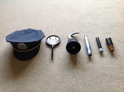 Security Guard Hat, Pirate Hook, 3 Telescopes & A Magnify Glass-Great For Props