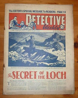 DETECTIVE WEEKLY No 379 25TH MAY 1940 THE SECRET OT THE LOCH, LAST EVER ISSUE