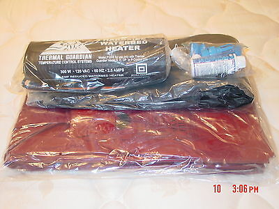 Queen Free Flow Waterbed Mattress / Liner /  Heater And Fill Kit