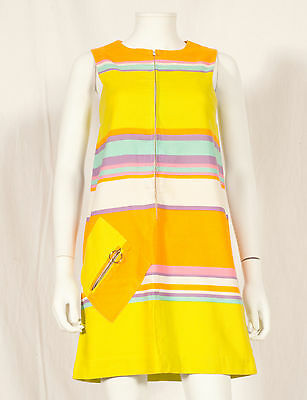 60's French Vintage Party Summer Dress Uk 6/8