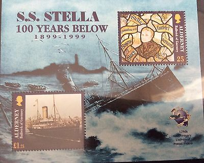 1999 Alderney. Centenary of the Wreck of Stella MSA124 MNH