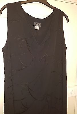 ladies GHOST LONDON long maxi black dress size M 12 14 embroidered
