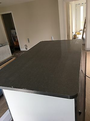 Wren Kitchen, Galaxy Night Gloss Island Worktop
