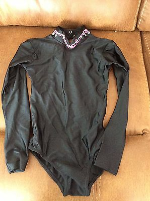 Girls Long Sleeve Leotard Age 7-8.