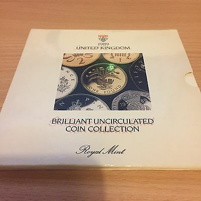 Royal Mint BU Brilliant Uncirculated Coin Year Set 1989