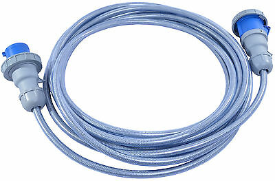32 AMP to 32 AMP 240V Blue SY Cable Extension Lead IP67 4mm Flexible Armoured
