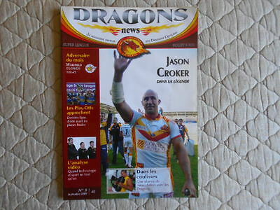 Catalans Dragons V Wakefield Super League Match Programme 2009
