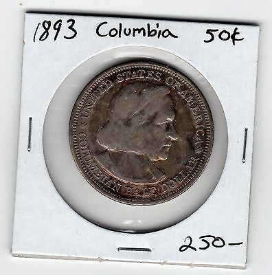 1893 columbian exposition half dollar Excellent grade slightly toned example