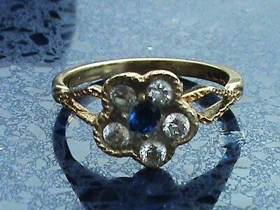 Vintage  9Ct Gold Cluster Ring