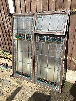 Cast Iron Leaded Window With Stained Glass On Best Offer