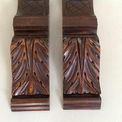 A pair of hand carved antique french decorative mouldings