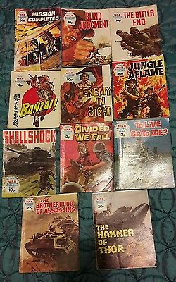 11X Vintage War Picture Library Comics